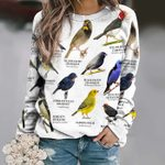 US Tanagers And Allies - Birdwatching Unisex All Over Print Cotton Sweatshirt KH24032101