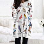 US Cardinals And Allies - Birdwatching Pocket Long Top Women Blouse KH24032102