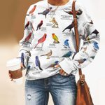 US Cardinals And Allies - Birdwatching Unisex All Over Print Cotton Sweatshirt KH24032102