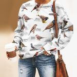 Waxbills And Allies Unisex All Over Print Cotton Sweatshirt KH24032103