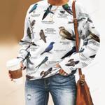 Swallows Birdwatching Unisex All Over Print Cotton Sweatshirt KH24032104