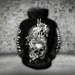 Skull Roses White Black Hoodie CH25032102