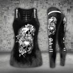 Skull Roses White Black Tank Top + Leggings CH25032102