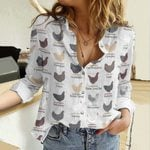 Egg Laying Chickens Cotton And Linen Casual Shirt QA25032104