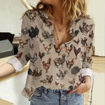 The Poultry Of The World Cotton And Linen Casual Shirt QA25032108