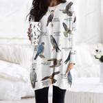 Falcons And Caracaras - Birdwatching Pocket Long Top Women Blouse KH25032109