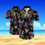 Butterfly Skull Men's Hawaii Shirt KH26032102