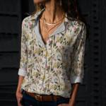 Flamingo - Birdwatching Cotton And Linen Casual Shirt KH30032101