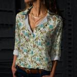 Flamingo - Birdwatching Cotton And Linen Casual Shirt KH30032104