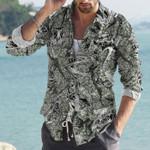 Dinosaur Cotton And Linen Casual Shirt KH30032107
