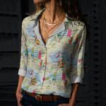 Summer Beach Cotton And Linen Casual Shirt KH30032108