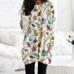 Frog Pocket Long Top Women Blouse KH30032105