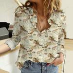 Bird - Birdwatching Cotton And Linen Casual Shirt KH30032109