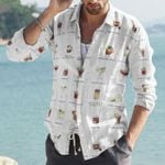 Tequiling Me Softly Cotton And Linen Casual Shirt KH30032110