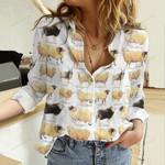UK Sheep Breeds Cotton And Linen Casual Shirt QA30032109