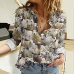 Sheep Farming Cotton And Linen Casual Shirt QA31032103
