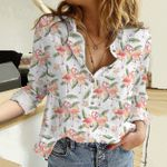 Flamingo Cotton And Linen Casual Shirt KH31032104