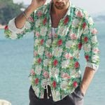 Flamingo Cotton And Linen Casual Shirt KH31032105