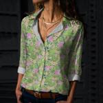 Flamingo Cotton And Linen Casual Shirt KH31032110