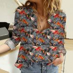 Flamingo Cotton And Linen Casual Shirt KH31032116