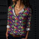 Flamingo Cotton And Linen Casual Shirt KH31032117