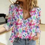 Flamingo - Birdwatching Cotton And Linen Casual Shirt KH01042103