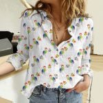 Flamingo - Birdwatching Cotton And Linen Casual Shirt KH01042111