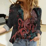 Octopus Cotton And Linen Casual Shirt KH02042109