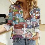 Colorful Sheep Cotton And Linen Casual Shirt QA02042104