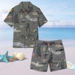 Species Of Bats Unisex Hawaii Shirt+ Beach Short QA210104