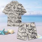Dinosaur Fossils Unisex Hawaii Shirt+ Beach Short QA130107