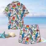 Parrot - Birdwatching - Birds Unisex Hawaii Shirt+ Beach Short KH050219