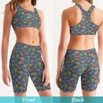 Weed Women's Sport Bra + Biker Short KH02042108