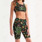 Weed Women's Sport Bra + Biker Short KH06042107