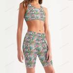 Weed Women's Sport Bra + Biker Short KH02042107