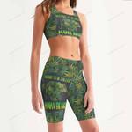Weed Women's Sport Bra + Biker Short KH07042107