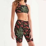 Roses - Weed Women's Sport Bra + Biker Short KH07042108