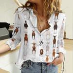 Goat Breeds Cotton And Linen Casual Shirt QA08042109