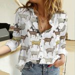 Goat Breeds Cotton And Linen Casual Shirt QA09042103