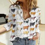 Cattle Breeds Cotton And Linen Casual Shirt QA14042111