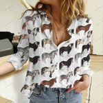 Horse Breeds Cotton And Linen Casual Shirt QA16042105