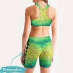 Mahi Fishy Women's Sport Bra + Biker Short KH19042101