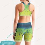 Mahi Fishy Women's Sport Bra + Biker Short KH19042103