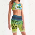 Mahi Fishy Women's Sport Bra + Biker Short KH19042104