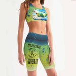 Fishing Women's Sport Bra + Biker Short KH19042109