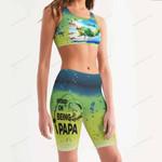 Fishing Women's Sport Bra + Biker Short KH19042111
