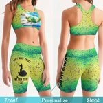 Fishing Women's Sport Bra + Biker Short KH19042113