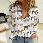 Horses Cotton And Linen Casual Shirt QA20042109