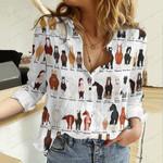 Horse Breeds Cotton And Linen Casual Shirt QA20042115