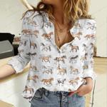 Horse Breeds Cotton And Linen Casual Shirt QA20042112